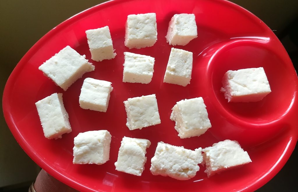 home made paneer recipe – how to make paneer at home -Indian cottage cheese