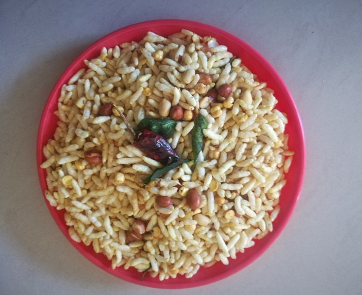 kara pori recipe, How to make kara pori recipe, Masala Pori Recipe