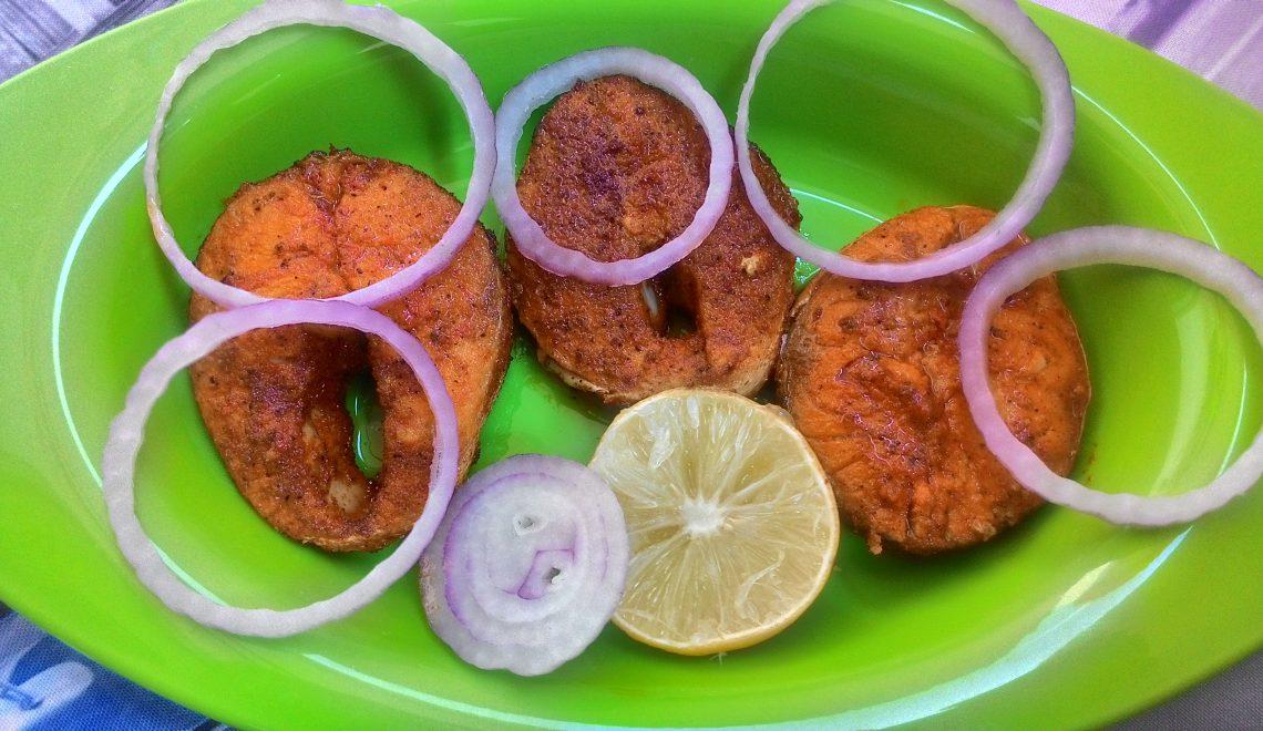 Neymeen fish fry, how to make Neymeen fish fry, Spicy Neymeen fish