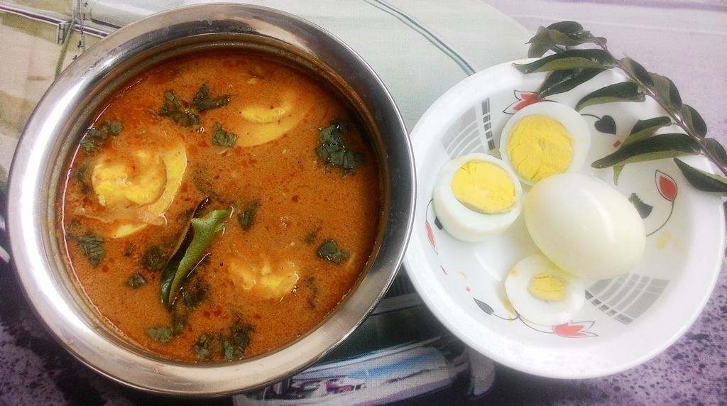 Famous Indian Recipes - egg gravy recipe